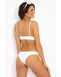Tori Praver Swimwear Chiara Cheeky Bikini Bottom - White