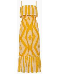lemlem Biruhi Ruffle Tier Maxi Dress - Yellow