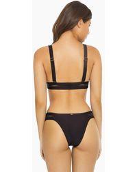 Pilyq Stitched Tab Teeny Bikini Bottom - Black