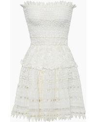 Waimari Vallarta Guipure Lace Strapless Mini Dress - White