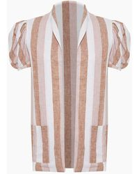 Adriana Degreas Striped Over Cover Up - Pink