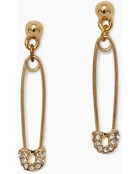 Vanessa Mooney - Safety Pin And Stud Earrings - Gold - Lyst