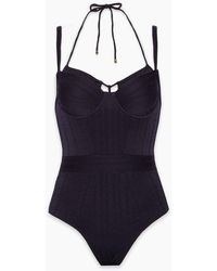 Marlies Dekkers Holi Vintage Wired Padded One Piece Swimsuit - Blue