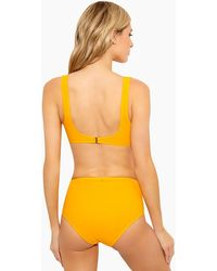 10 Crosby Derek Lam Sporty Lace Front Bikini Top - Orange