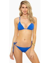 Rosa Cha - Basic Triangle Bikini Top - Solid Blue - Lyst