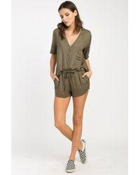 RVCA - Vary Yume Elastic Shorts - Burnt Olive - Lyst