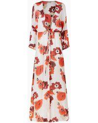 Evarae Gela Open Kimono - Red