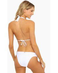 ViX Bia Tube Sliding Straps Full Bikini Bottom - White