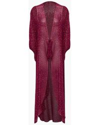 Adriana Degreas Silk Georgette Long Robe Cover-up - Pink