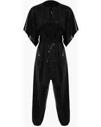 Norma Kamali Rectangle Jog Short Sleeve Jumpsuit - Black