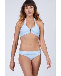 Heidi Klein D-g Bar Bikini Top - Blue