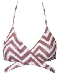 Meli Beach - Island Wrap Top - Lyst