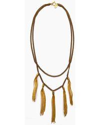 Lena Bernard Gigi Multi-layered Tassel Necklace - Metallic