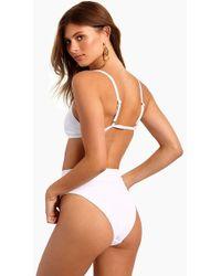 L*Space - Frenchi High Waist Bikini Bottom - White - Lyst