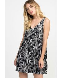 RVCA Landline Woven Mini Dress - Black