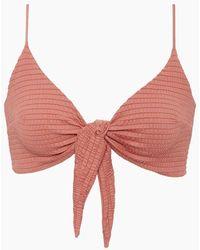 S.I.E SWIM Meghan Smocked Convertible Bikini Top - Purple