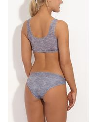 Beth Richards Naomi Low Rise Full Bikini Bottom - Grey Heather - Gray