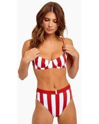Onia Lydia Underwire Bikini Top - Red