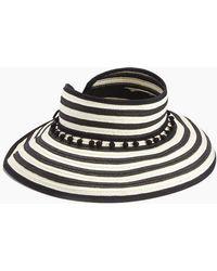 L*Space - Lewis Stripe Roll Up Hat - Black - Lyst