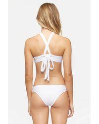 Tavik Ali Textured Moderate Hipster Bikini Bottom - White