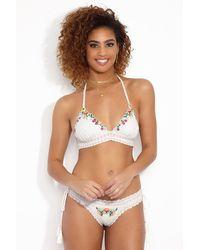 RINIKINI Karlie Crochet Bralette Bikini Top - White