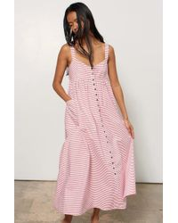 Mara Hoffman - Orla Button Up Front Dress - Cabana Stripe - Lyst