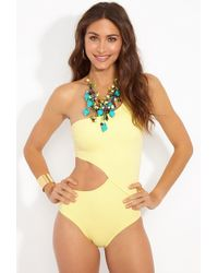 Solid & Striped - The Claudia Asymmetric Cut-out One Piece Swimsuit - Pastel Yellow - Lyst