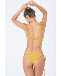 Stone Fox Makua Cheeky Tie Side Bikini Bottom - Yellow