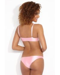 Lolli - Sugar Low Rise Hipster Bikini Bottom - Cotton Candy Pink - Lyst