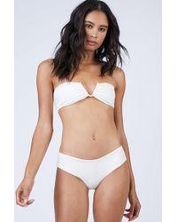 Mikoh Swimwear Reunion V-wire Bandeau Bikini Top - White