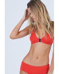 Vilebrequin Barbara Racerback Bikini Top - Poppy Red