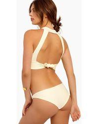 S.I.E SWIM Jordan Moderate Coverage Bikini Bottom - White