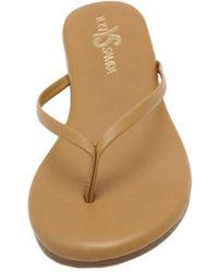 Yosi Samra Roee Leather Sandals - Brown