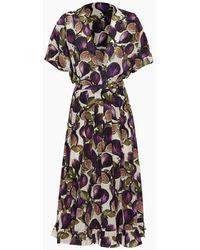 Adriana Degreas Midi Pleated Dress - Purple