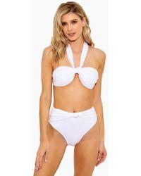 10 Crosby Derek Lam Halter Bandeau Bikini Top - White