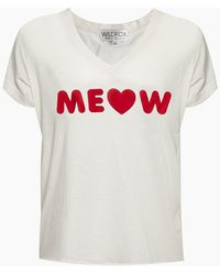 Wildfox Romeo V-neck Tee - White