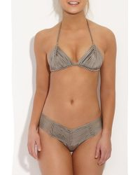 Indah - Andrea Macrame Top - Taupe - Lyst