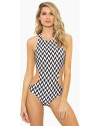 Rosa Cha - Sports Racerback One Piece Swimsuit - Geometric - Lyst