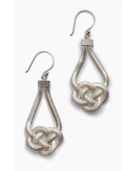 Lena Bernard - Sabha Knotted Silver Fishtail Chain Dangle Earrings - Lyst