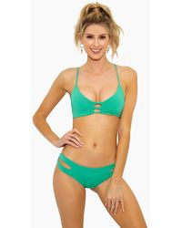 L*Space Flynn Bralette Bikini Top - Spearmint - Green