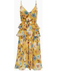 Clube Bossa Ellia Ruffle Button Up Midi Dress - Yellow