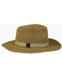 Hat Attack Raffia Crochet Rancher Hat - Bi-color - Green