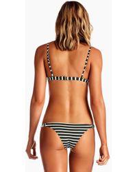 Vitamin A Carmen Ribbed Low Rise Bikini Bottom - Black