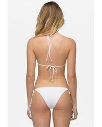 Tavik Jax Tie Side Bikini Bottom - White