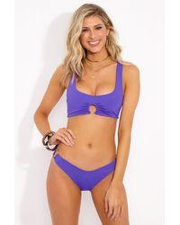 L*Space Julia Circle Ring Bikini Top - Purple