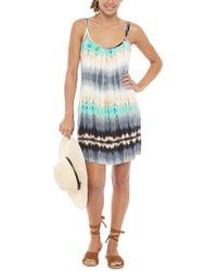 J Valdi Gypsea Double Strap Tank Dress - Blue