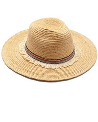 Hat Attack Raffia Braid Continental Straw Sun Hat - Natural