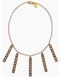 Lena Bernard - Stella Pearl & Crystal Stick Charms Gold Necklace - Lyst