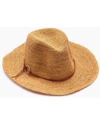 Hat Attack Raffia Crochet Rancher Hat - Toast
