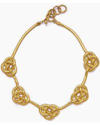 Lena Bernard - Sileas Knotted Gold Fishtail Chain Necklace - Lyst